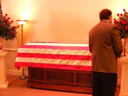 Casket of the late Judge Whit Lafont